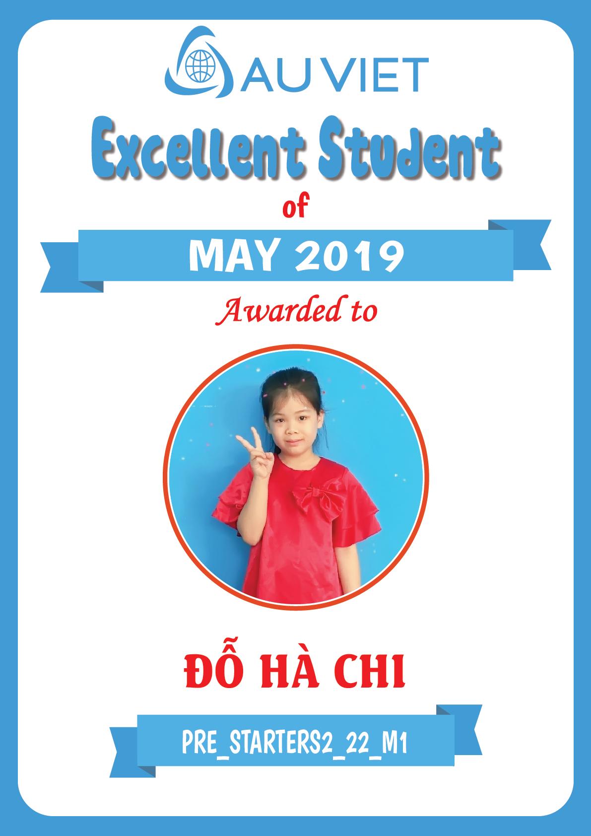 Danh sách học viên xuất sắc tháng 5 – 2019
