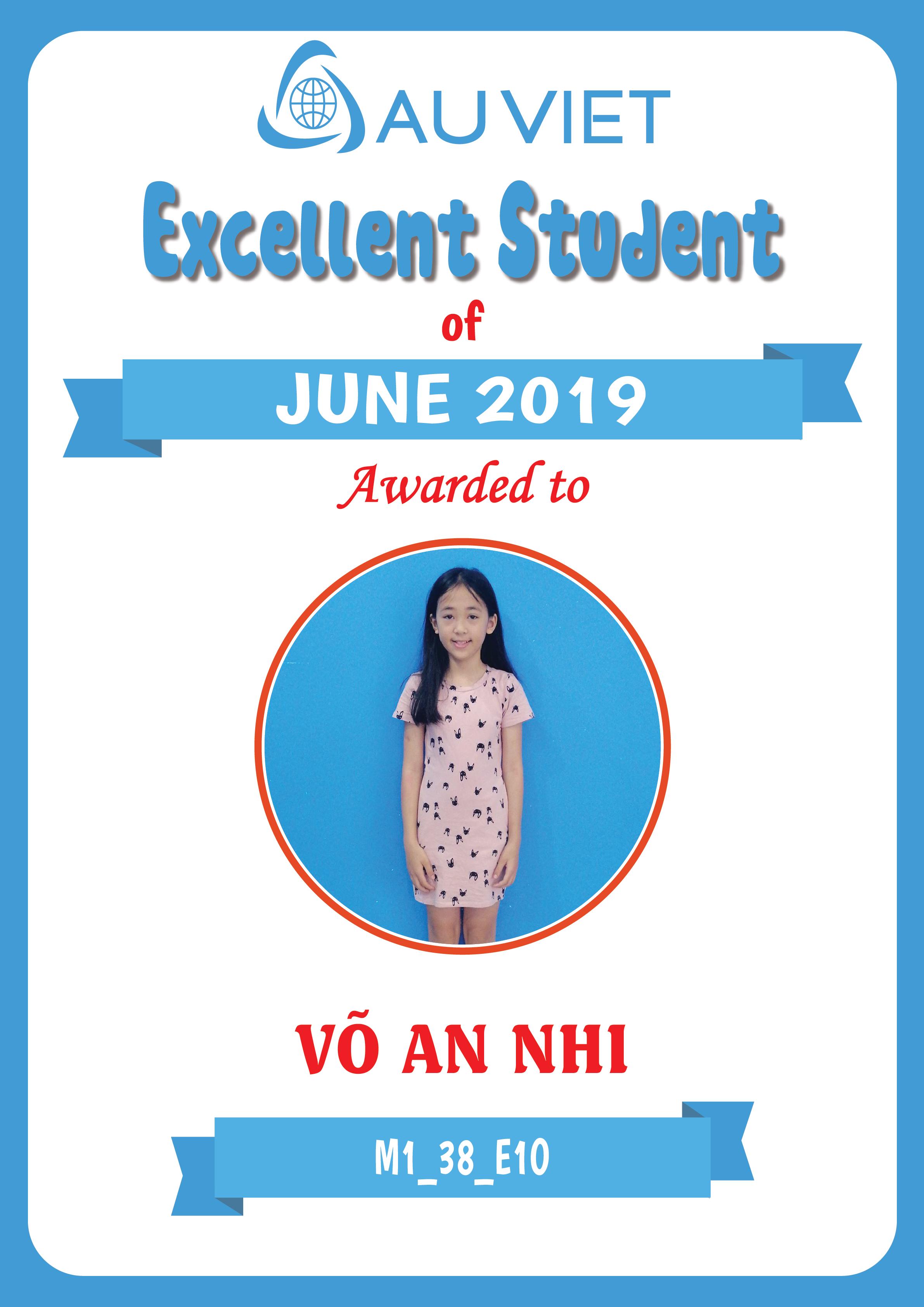 Danh sách học viên xuất sắc tháng 6 – 2019