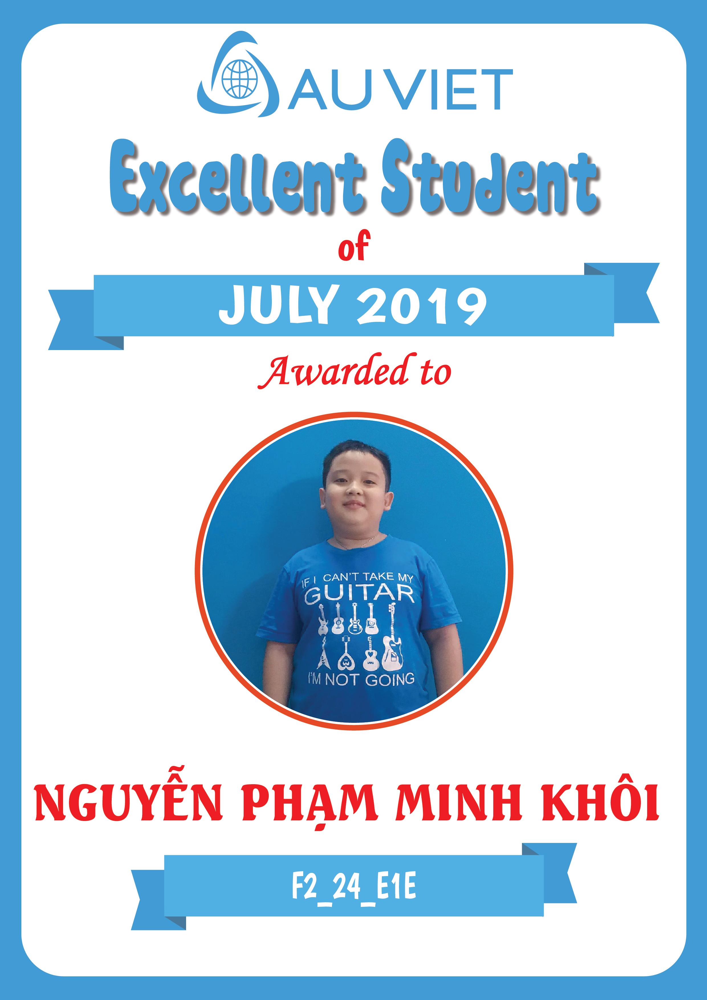 Danh sách học viên xuất sắc tháng 7 – 2019