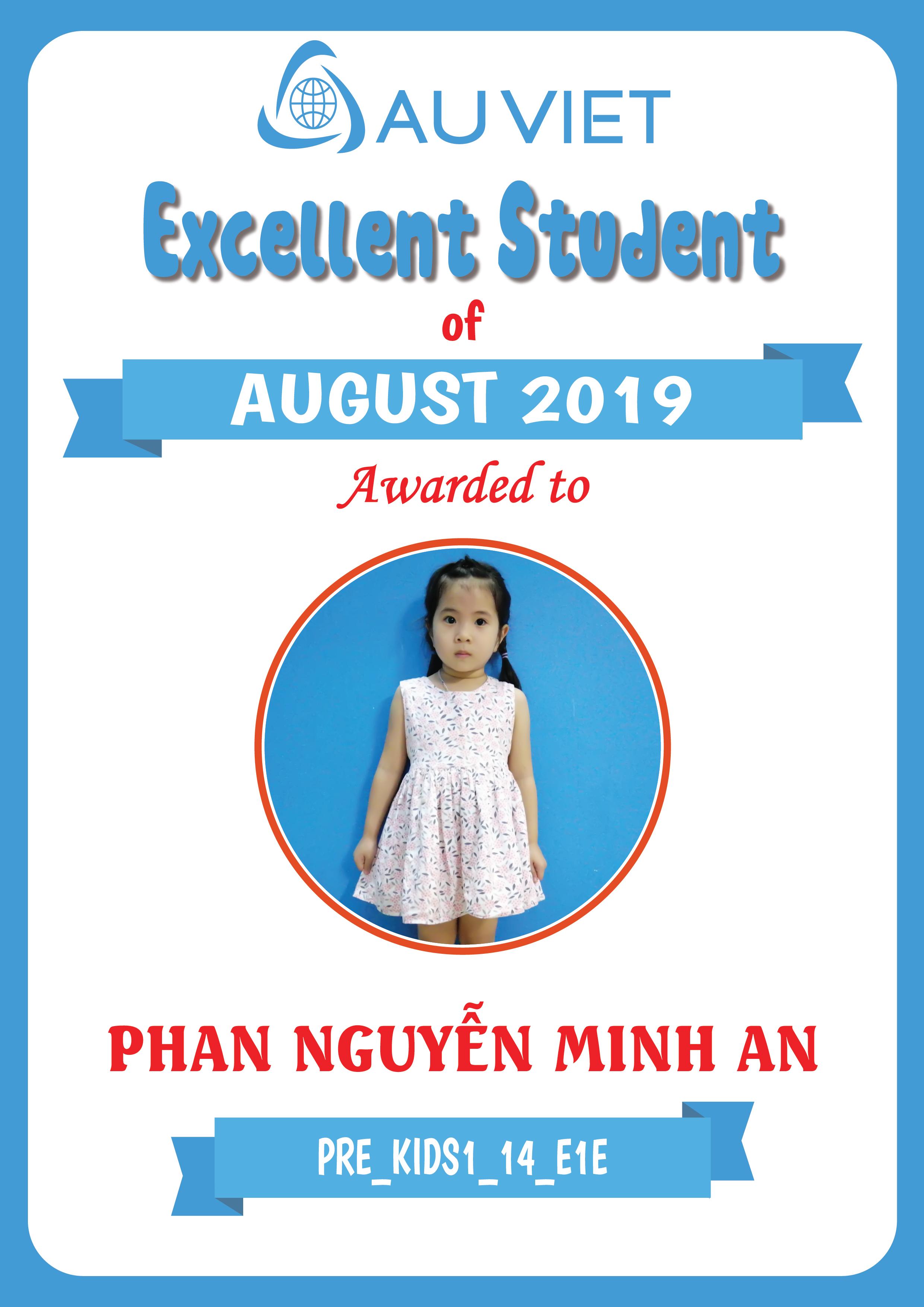 Danh sách học viên xuất sắc tháng 8